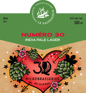 Numéro 30 / Session Indian Pale Lager / 4,5% / 500 ml