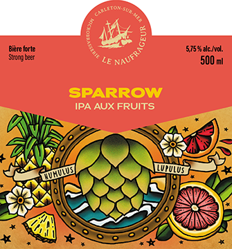 Sparrow / IPA aux fruits / 5,75% / 12 x 500 ml