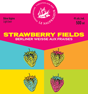 Strawberry Fields / Berliner Weisse aux fraises / 4% / 500 ml